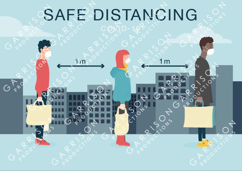 safe distancing poster
